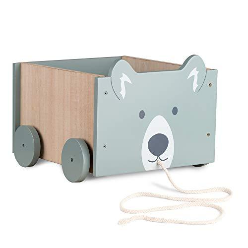 Navaris Spielzeugkiste Kiste Aufbewahrung für Spielzeug - Aufbewahrungsbox für Kinderzimmer - 25,5x24x20cm...