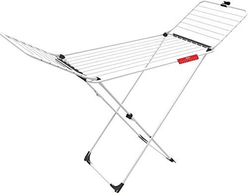 Vileda Wäscheständer Stahl, Aluminium, Trockenleinenlänge: 20m, Weiß