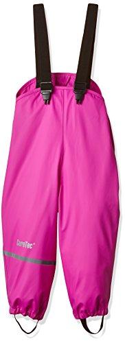 CareTec Kinder Regenlatzhose, wind- und wasserdicht (verschiedene Farben), Rosa (Real pink 546), 128