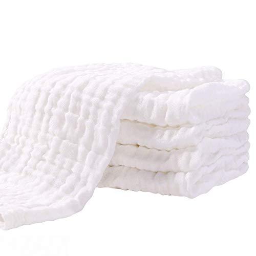 Mullwindeln Spucktücher 5er Set 70x70 cm Stoffwindeln Faltwindeln Mulltücher Saugstark Baumwolle für Baby...