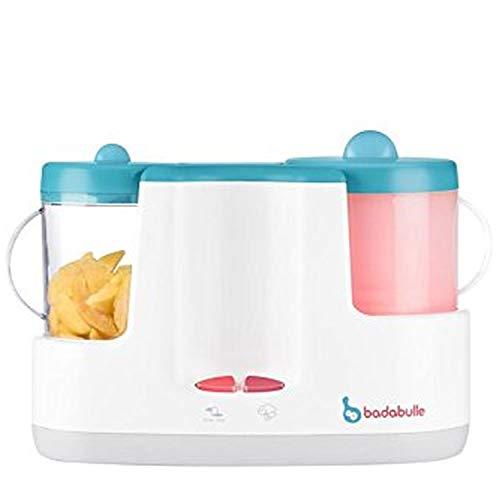 Badabulle Baby Station 4-in-1 Babynahrungszubereiter, Dampfgaren, Mixen, Erwärmen von Fläschchen und...