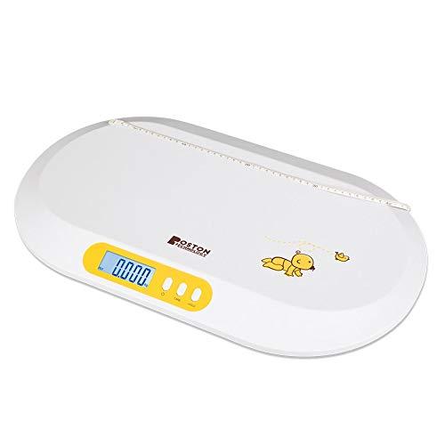Boston Tech BA-104 - Babywaage. Digitalwaage für Babys und Haustiere mit LCD-Bildschirm, Tara-Modus und...