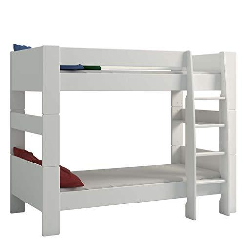 Steens For Kids Kinderbett, Etagenbett inkl. Lattenrost und Absturzsicherung, Liegefläche 90 x 200 cm, MDF,...
