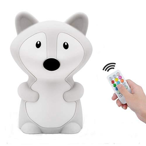 Tianhaixing Nachtlicht für Kinder 9 Farben LED Baby Nachttischlampe wiederaufladbare Kinderzimmerlampe...