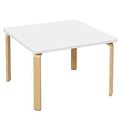 Homfa Kindertisch ohne Stühle Schreibtisch 75x75x50cm(BxTxH) Computertisch Arbeitstisch Beistelltisch Tisch...