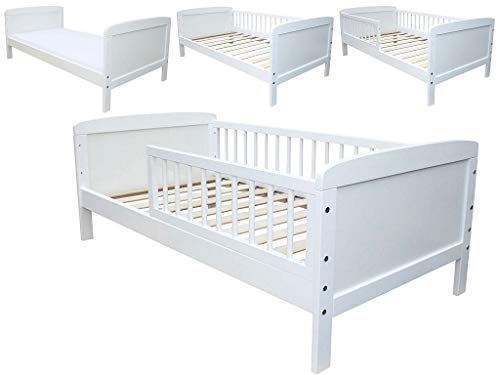Kinderbett Juniorbett Massivholz in Weiss 140x70cm NEU 27