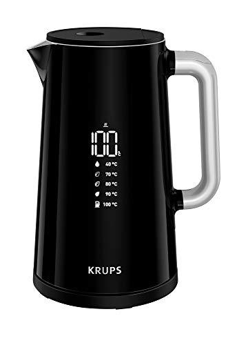 Krups BW8018 Smart'n Light Elektrischer Wasserkocher   5 Temperaturstufen   Digitalanzeige   30 Min....