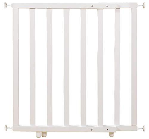 roba geschlossenes Türschutzgitter zum Klemmen, Schutzgitter weiß lackiert mit variabler Breite 62-106 cm,...