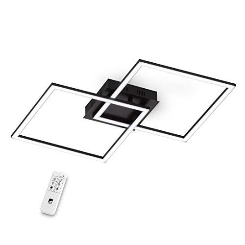 EGLO LED Deckenleuchte Palmaves 1, 2 flammige Deckenlampe aus Aluminium, Stahl, Kunststoff, Schwarz, Weiß mit...
