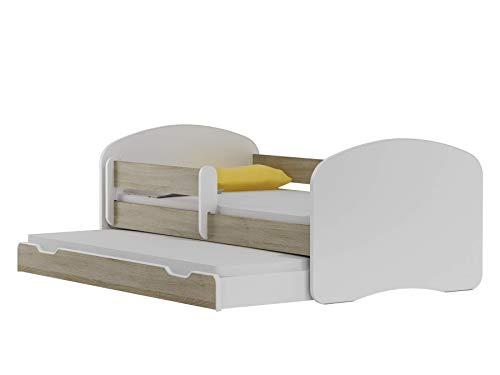 BDW NEU Kinderbett mit 2 Liegeflächen und 2 Matratzen DOPELLBETT 200x90 Eiche Sonoma - für Mädchen und...