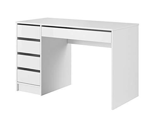 Mirjan24 Schreibtisch Ada, 5 Schubladen Schülerschreibtisch Computertisch Kinderschreibtisch Arbeitstisch...