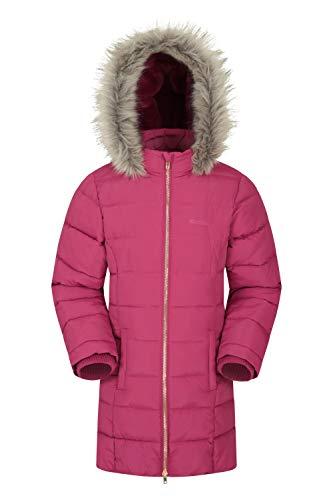 Mountain Warehouse Galaxy gefütterte, gepolsterte Fleece-Kinderjacke – wasserdichte Winter Steppjacke für...