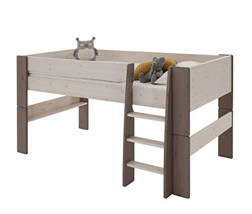 Steens For Kids Kinderbett, Hochbett, inkl. Lattenrost und Absturzsicherung, Liegefläche 90 x 200 cm, Kiefer...