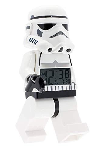 Lego Star Wars 9002137 Sturmtruppler Kinder-Wecker mit Minifigur und Hintergrundbeleuchtung ,  weiß/schwarz ,...