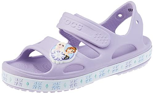 Crocs Unisex Kinder Fun Lab Disney Frozen II Sandal, Lavender, 27-28