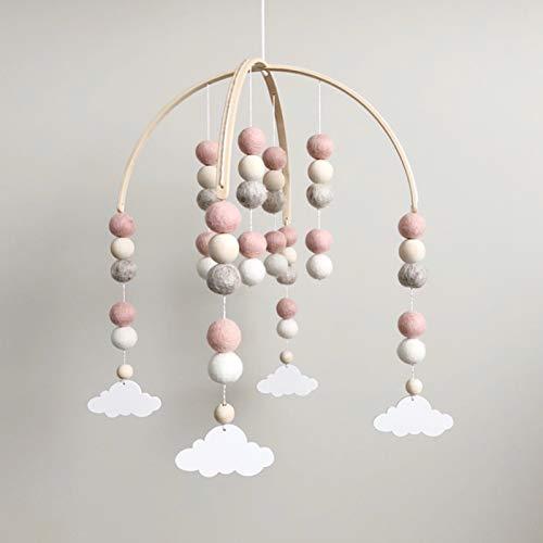 Filz Bettglocke, Babybett Mobile Windspiel Rassel Spielzeug, Baby Windspiel Neugeborenen, Baby Windspiel, Baby...