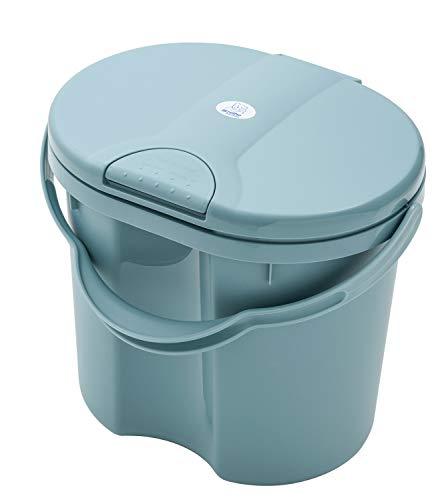 Rotho Babydesign TOP Windeleimer, Tipp-Deckel, 11l, Ab 0 Monate, Lagoon (Blau), 20002 0292