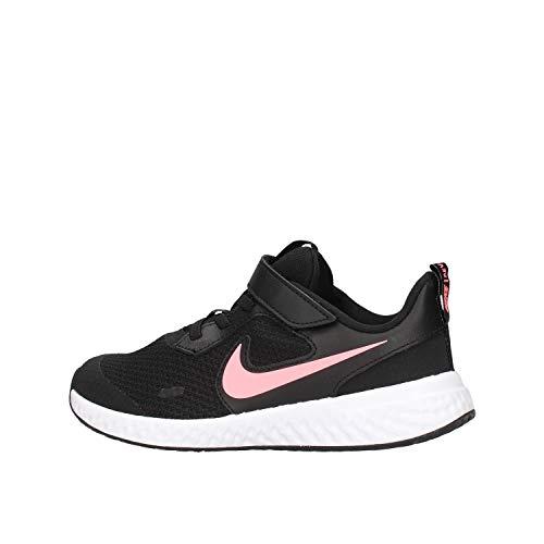 Nike Revolution 5 (PSV) Running Shoe, Black/Sunset Pulse, 35 EU