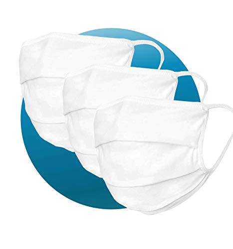 Enjoy Life 3 x Pack der Gesicht-Abdeckung waschbar   Mundschutz aus 99% Bio-Baumwolle für Mund & Nase in...