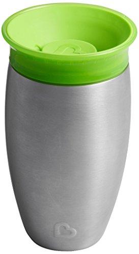 Munchkin Miracle 360° Edelstahl-Trinkbecher, auslaufsicher, ab 12 Monaten, grün, 296 ml