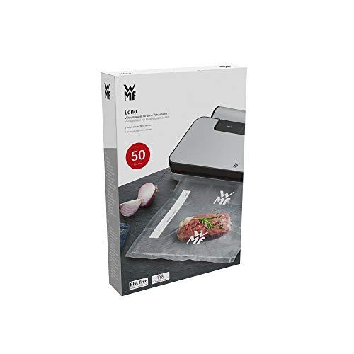 WMF Lono Vakuumbeutel für Vakuumiergerät, 50 Stück, 20 x 30 cm, 4 lagige Folie, strukturierte / glatte...