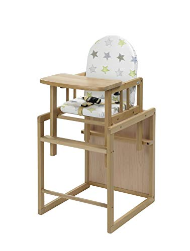 Geuther Kombi-Hochstuhl Nico, 2in1, Stuhl-/Tisch-Kombination oder Hochstuhl, hoher Rücken, mit...