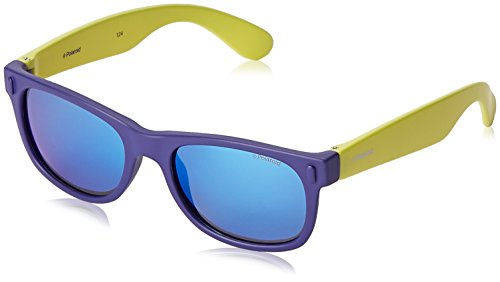 Polaroid Unisex-Kinder P0115 Jy Udf 46 Sonnenbrille, Blau (Blute Lime/Grey Blute)