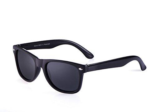 Miuno® Kinder Sonnenbrille Polarisiert Polarized Etui 6833a (Schwarz)