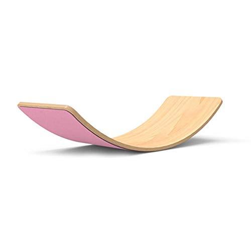 33 Zoll Natürliches Waldorf Holz Balance Board Kid Yoga Board Wobble Board Für Kinder Und Kleinkinder, Holz...