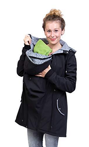 Viva la Mama - Jacke Herbst Winter Babytragen vorn und hinten Rückentragejacke Umstandsjacke Softshell - PINA...
