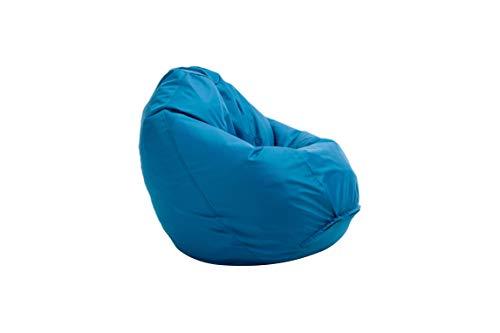 Bruni Sitzsack Classico M in Blau – Sitzsack mit Innensack zum Zocken & Lesen, Indoor- und Outdoor-geeignet,...