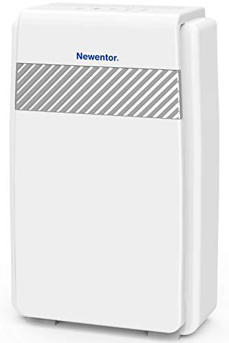 Newentor Luftreiniger Hepa Aktivkohlefilter, CADR 218m³/h gegen Allergie, Pollen, Staub, 5-in-1 Filtersystem...