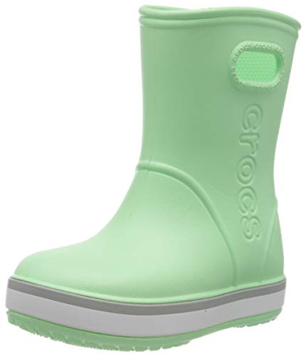 Crocs Crocband Rain Boot Kids, Unisex-Kinder Gummistiefel, Grün (Neo Mint/Light Grey 3to), 23/24 EU...