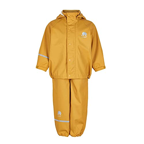 CeLaVi Mädchen CeLaVi zweiteiliger Regenanzug in vielen Farben Regenjacke,,per pack Gelb (Mineral Yellow...