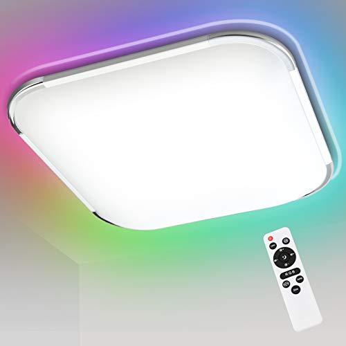 Hengda 24W RGB LED Deckenleuchte, Deckenlampe Dimmbar, RGB Farbwechsel, Kalt bis Warmwei(2700-6500K),...