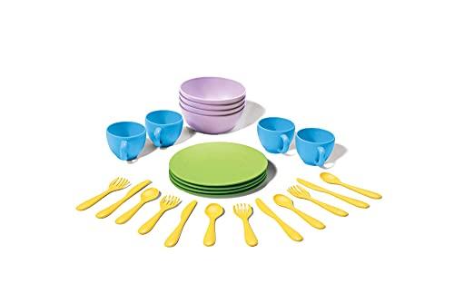 Green Toys 8664052, Geschirrset für Kinderküche, Spielküche, Rollenspiel, nachhaltiges Küchenspielzeug...