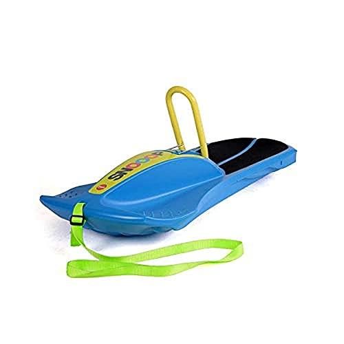 Ferbedo Kinderschlitten Snooop Carver blau (Schlitten mit Anti-Rutsch-Sitzfläche, Lenkung durch...