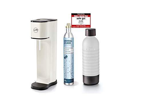 Sodapop JOY FASHION - Trinkwassersprudler inklusive PET-Flasche und CO2-Zylinder für 60L Sprudelwasser, matt...