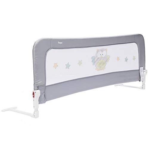 ZOPA Bettgitter Monna - Bettschutzgitter für Kinder ab 18 Monaten bis 5 Jahren - Rausfallschutz mit Gelenk...