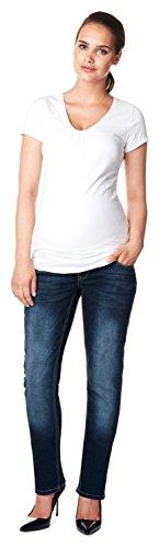 Noppies Damen Jeans OTB Comfort MENA Umstandsjeans, Blau (Dark Stone Wash C296), 36 (Herstellergröße: 29)