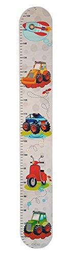 Hess Holzspielzeug 14601 - Messlatte aus Holz für Kinder, Serie Fahrzeuge, handgefertigt, 4 teilig, geeignet...