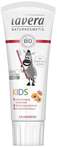 lavera Zahncreme Kids ∙ Ohne Fluoride & ohne Farbstoffe ∙ Bio-Calendula & Calcium ∙ Vegan Bio...