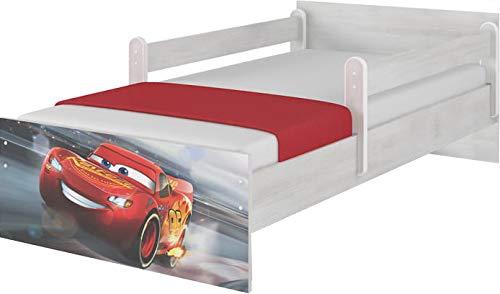 Original Disney's Kinderbett mit Rausfallschutz, Schublade und Matratze