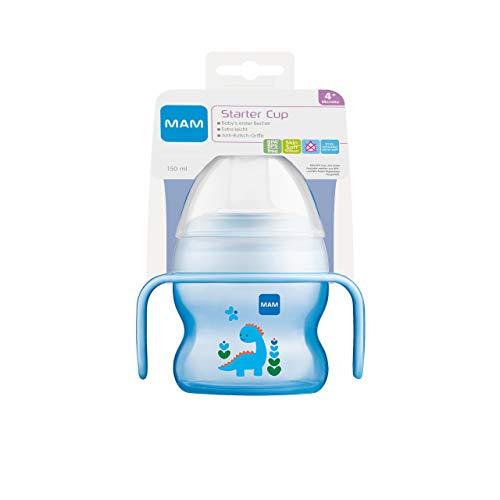 MAM Starter Cup Baby Trinklernbecher (150ml), Trinkflasche für erste Trinkversuche, Schnabelbecher mit...