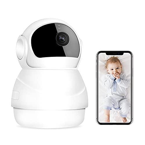 SaponinTree Überwachungskamera WLAN 360 Grad, 1080P FHD-Sicherheitskamera mit Bewegungserkennung, Zwei Wege...