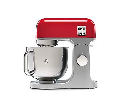 Kenwood kMix KMX750RD Küchenmaschine, 5 l Edelstahl Schüssel, Safe-Use-Sicherheitssystem, Metallgehäuse,...