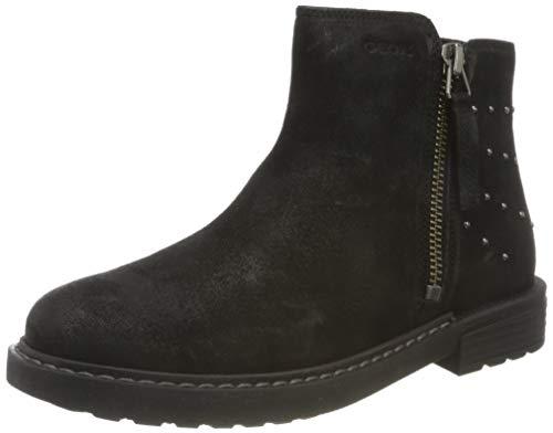 Geox J Eclair Girl A Chelsea Boot, Schwarz (Black), 34 EU