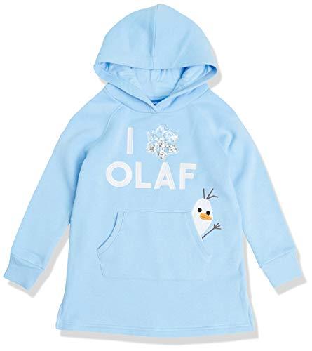 Spotted Zebra Disney Star Wars Marvel Princess Fleece Hooded Playwear-Dresses, Frozen 2 Olaf, 6-7 Jahre