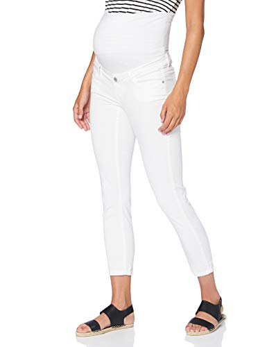 Supermom Damen Jeans OTB Skinny 7-8 Umstandsjeans, Weiß (Optical White P175), W32 (Herstellergröße: 32)