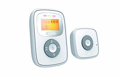 ABUS Babyphone Tom mit Temperatur-Sensor | beleuchtetes Display | 300m Reichweite | schnurlos | Akku | weiß |...